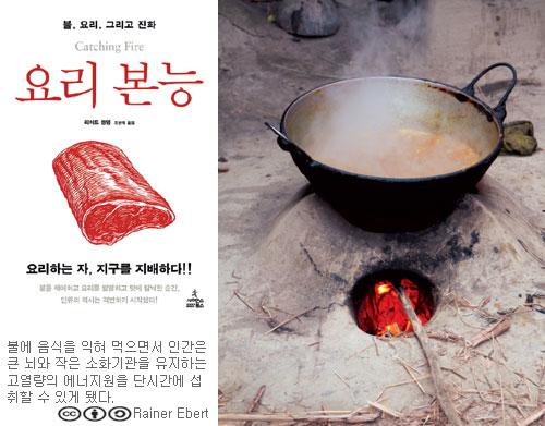 빨간 불꽃 위 음식이 지금의 인간을 만들었다
